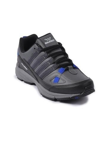 Walkway Prt-215 Siyah-Füme Unisex Spor Ayakkabı Siyah